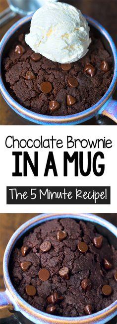 Chocolate Mug Brownies, Brownies Keto, Easy Chocolate Mug Cake, Delicious Chocolate, Boxed Brownies, Vegan Chocolate, Chewy Brownies, Caramel Brownies, Easy Vegan Brownies