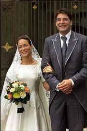 Wedding of princess Margarita de Bourbon-Parme, elder sister of Maria Carolina, and Edwin de Roy van Zuydewijn in 2001. Divorced in 2006