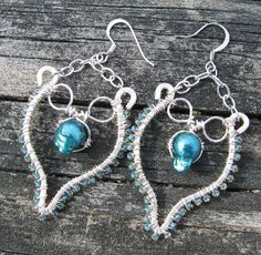 All Wrapped Up in Teal Pearl Earrings
