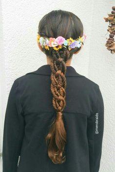 4strand braid with fishtail braids