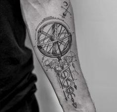 Caduceus & Armillary Sphere
