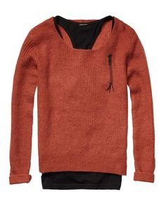 2-In-1 Lightweight Knitted Sweater by Scotch & Soda