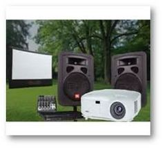 Rent outdoor movie systems and packages, including inflatable screens, projectors, sound systems and more! Outdoor Movie Screen, Outdoor Movie Nights, Movie Night Party, San Francisco California, Karaoke, Indoor Outdoor, Presentation, Movies, Films