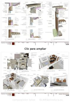 Unbelievable Modern Architecture Designs – My Life Spot Construction Documents, Construction Drawings, Landscape Architecture Design, Architecture Details, Architectural Section, Architectural Drawings, Sketchup Pro, Interior Design Presentation, Arch Model