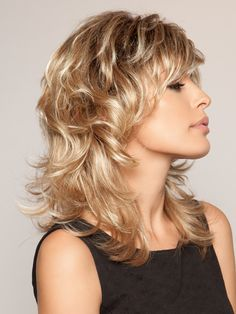 Mid-length Shag Wig With Layers With High Quality Lowest Price, All Wigs Save Up To Off. Short Shag Hairstyles, Feathered Hairstyles, Wig Hairstyles, Coiffures Bob Hirsute, Cut Her Hair, Hair Cuts, Long Layered Curly Hair, Medium Hair Styles, Curly Hair Styles