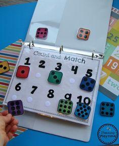 Preschool Counting Games - Back to School Activity Binder #backtoschool #preschool #planningplaytime #backtoschoolkindergarten