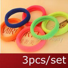 $0.99 1pc Floral Hair Ring Hair Rope Little(Random Color) - BornPrettyStore.com