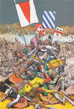 Bataille d'Auray (Du Guesclin, Chandos, Knolles, Calveley...) 1364.Battle of Auray. Eduardo T. Coelho