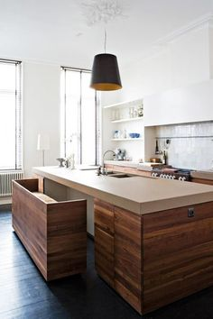 #architecture #design #interiors #kitchen #style #modern #contemporary - smart solution for the island with hidden bench