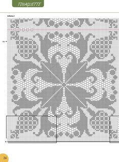 Romans Z Szydełkiem: Najpiękniejsze Serwety I Obrusy - Diy Crafts - hadido Crochet Squares, Crochet Motif, Crochet Doilies, Vintage Crochet Patterns, Embroidery Patterns, Cross Stitch Patterns, Crochet Symbols, Filet Crochet Charts, Bee Cards