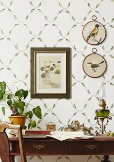 Sandberg Wallpaper's new collection Tradition is a cultural-historical narrative about the walls that are the backdrop to our lives. Office Wallpaper, Of Wallpaper, Designer Wallpaper, Swedish Wallpaper, Cool Rooms, Home Decor Inspiration, Interior And Exterior, Decor Styles, Beautiful Homes