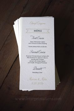 Greenery Wedding Menu Botanical Wedding Menu Wedding Menu