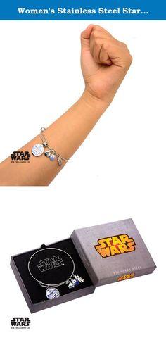 "Women's Stainless Steel Star Wars R2D2 Enamel Filled Charm Expandable Bracelet. Women's Stainless Steel Star Wars R2D2 Enamel Filled Charm Expandable Bracelet. Licensed Jewelry Box Included. Dimension: 7 1/2"" (Length) x 1/16"" (Width) x 1/16"" (Height)."