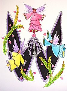 FLOWERS AND LETTERS FOR DECOUPAGE Alphabet And Numbers, Alphabet Letters, Free Machine Embroidery Designs, Illuminated Letters, Letter Art, All Art, Scrapbook, Lettering, Floral