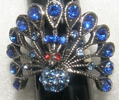 'Beautiful Peacock Ring with Colorful Stones' is going up for auction at 9pm Wed, Jun 27 with a starting bid of $5.