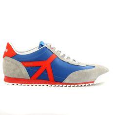 Moschino 56060 Velour/Nylon Fashion Sneaker Shoes - Mens