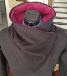 wrap - cowl neck sweatshirt (close-up)