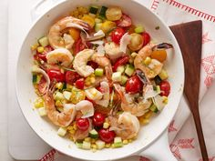 Summertime Shrimp Stir-Fry recipe from Ree Drummond via Food Network. RAVE reviews!