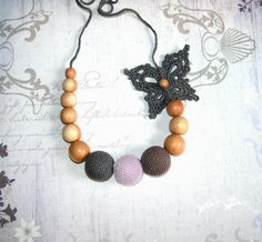 Organic nursing necklace  Breastfeeding necklace by Econicashop, $23.00