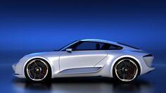 Bugatti Chiron designer re-imagines the Porsche 911 Convertible, Volkswagen, Car Buyer, Bugatti Chiron, Futuristic Cars, Porsche Cars, Porsche Design, Automotive Art, Car Brands