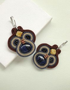 Hey, I found this really awesome Etsy listing at https://www.etsy.com/listing/236566586/brown-and-blue-earrings-brown-earrings