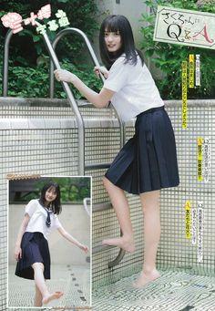 Japanese Beauty, Asian Beauty, Beautiful Asian Girls, Beautiful People, Teen Feet, Leg Thigh, Cute Japanese Girl, Japanese School, Plus Clothing