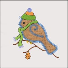 Designed by Diana Vogt and Anne Vane of V-Stitch Designs. The GO! Bluebird Single #1 appliqué embroidery design is designed to be used with the AccuQuilt GO! Bird (55352). Our first bluebird in the series is dressed and ready for cool weather. Great design for a sweatshirt!