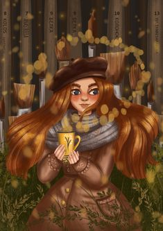 "Illustration girl ""Forest soul"""