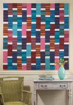 Striped Bricks Quilt pattern by Kevin Kosbab | Feed Dog Designs