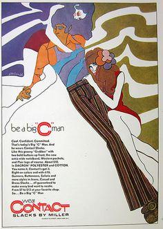 1970 Miller Contact Slacks ad