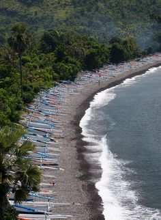 Amed in Bali with its black shiny volcano sand beaches is my top. That's it. #bali #travel #wanderlust