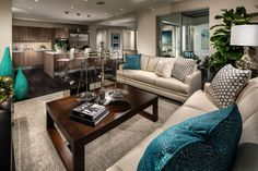 Transitional Living Room with Carpet, Honeycomb Print Pillows, 3973-03 Sofa, ACACIA MOCHA HAND SCRAPED, Vintage Justice Scale