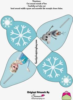 Frozen: Caja de Cupcake para Imprimir Gratis.