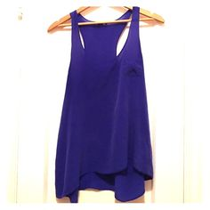 Royal Blue Silk Tank Forever 21 royal blue tank. 100% silk made in Japan Forever 21 Tops Tank Tops