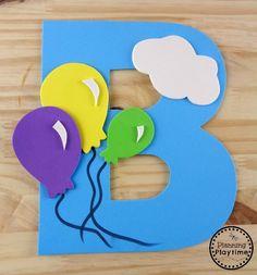 Letter B Craft – Planning Playtime - letter crafts preschool alphabet Letter B Activities, Preschool Letter Crafts, Alphabet Letter Crafts, Abc Crafts, Daycare Crafts, Preschool Activities, Crafts For Kids, Preschool Phonics, Preschool Teachers
