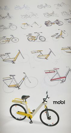 Mobi bicycle rental by Lucas Neumann de Antonio, via Behance