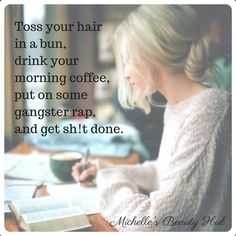After a long day and night with the kids it would be so easy to just melt into the sofa, but my dreams won't work unless I do. So here I am handling my biz like a boss! . . . #likeaboss #bossbabe #ladyboss #boss #tuesday #morning #tuesdaymorning #coffee #rap #messyhair #messyhairdontcare #getitdone