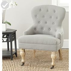 Safavieh Mercer Collection Falcon Arm Chair, Granite - Improve your home (*Amazon Partner-Link)