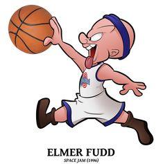 cartoons tattoos Draft 2018 Special - Elmer Fudd by BoscoloAndrea Looney Tunes Space Jam, Baby Looney Tunes, Looney Tunes Cartoons, Looney Tunes Characters, Classic Cartoon Characters, Classic Cartoons, Old School Cartoons, Old Cartoons, Cartoon Drawings