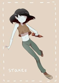 Marceline as the vampire killer in Adventure Time's mini-series Stakes.
