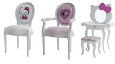 Hello Kitty Furniture for Girls   Hello kitty chair and dressing table