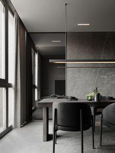Dream House Interior, Home Interior Design, Interior Styling, Interior Architecture, Gray Interior, Muebles Living, Dark Interiors, Cuisines Design, Dining Room Design