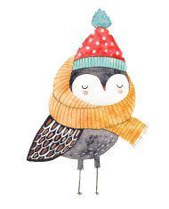 owl drawing illustration
