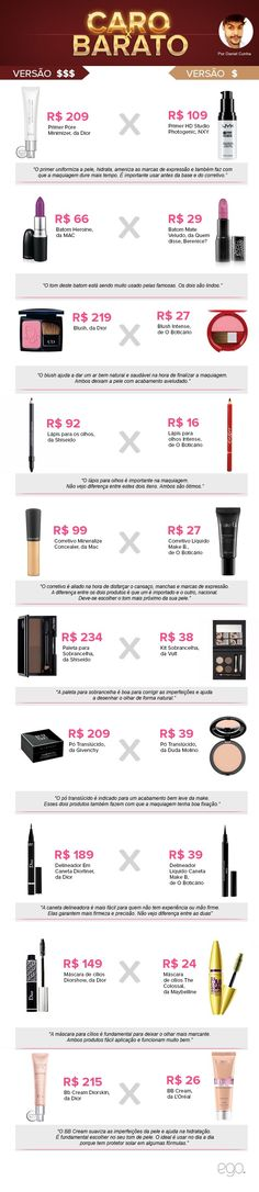 Caro x Barato - Daniel Cunha (Foto: EGO) Beauty Make Up, Hair Beauty, Makeup Tips, Hair Makeup, Divas, Party Make-up, Body Hacks, Skin Food, Girls Makeup