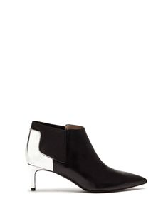 LULY HIGH ANKLE BOOTS IN CALFSKIN  LEATHER AND LAMINATED