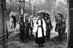 The body of the Red Baron, Manfred von Richthofen, receives a full military funeral, 1918