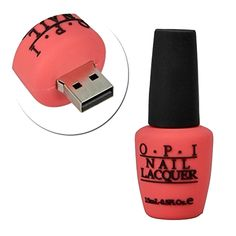 Nail Polish Bottle Shape USB 2.0 Flash Drive is the ideal gift for those who need to transfer their data onto different computers