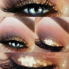 Glitter smokey look! Wedding make up , Love Makeup, Makeup Tips, Beauty Makeup, Makeup Looks, Hair Beauty, Stunning Makeup, Eye Trends, Rimmel, Eye Make Up