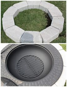 Mommy's Kitchen: New Backyard Addition {Fire Pit on a Budget}