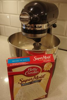 When I want a super moist white cake my favourite is using a boxed mix and adding to it. It's fool proof and you can cheat a little. I...